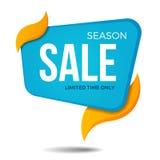 Дизайн шаблона значка стикера знамени ценника ярлыка продажи сезона Стоковая Фотография