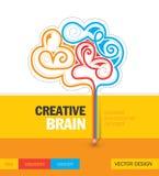 Дизайн шаблона концепции творческого мозга воспитательный Стоковые Изображения RF