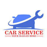 Дизайн шаблона логотипа обслуживания автомобиля Стоковое Изображение RF