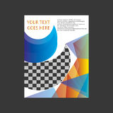 Дизайн шаблона рогульки брошюры листовки годового отчета Стоковые Фотографии RF