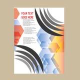 Дизайн шаблона рогульки брошюры листовки годового отчета Стоковое Изображение