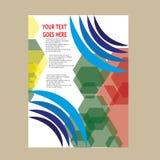 Дизайн шаблона рогульки брошюры листовки годового отчета Стоковое Фото