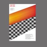 Дизайн шаблона рогульки брошюры листовки годового отчета Стоковая Фотография