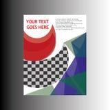 Дизайн шаблона рогульки брошюры листовки годового отчета Стоковые Фото