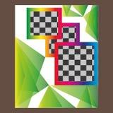 Дизайн шаблона рогульки брошюры листовки годового отчета Стоковое фото RF