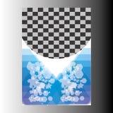 Дизайн шаблона рогульки брошюры листовки годового отчета Стоковое Изображение RF