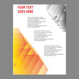 Дизайн шаблона рогульки брошюры листовки годового отчета Стоковые Изображения RF