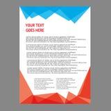 Дизайн шаблона рогульки брошюры листовки годового отчета Стоковые Изображения