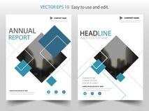 Дизайн шаблона рогульки листовки годового отчета брошюры вектора ярлыка голубой черноты, дизайн плана обложки книги, иллюстрация вектора