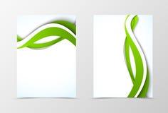 Дизайн шаблона рогульки фронта и задней части динамический Стоковая Фотография