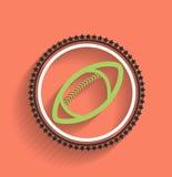 Дизайн шарика значка футбола вектора плоский Стоковое Изображение