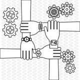 Дизайн шестерни wirth сыгранности, иллюстрация вектора Стоковое фото RF