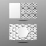 Дизайн шестиугольника визитной карточки Стоковое Изображение