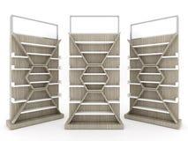 Дизайн шкафа полки с деревянной затыловкой Стоковое Изображение