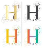 Дизайн шрифта алфавита h Стоковое Фото