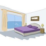 Дизайн эскиза вектора внутренний спальни Стоковые Фотографии RF