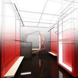 Дизайн эскиза внутреннего магазина Стоковое Фото