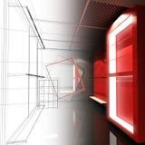 Дизайн эскиза внутреннего магазина Стоковые Изображения RF