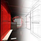 Дизайн эскиза внутреннего магазина Стоковое Изображение RF