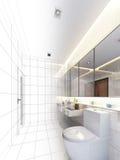 Дизайн эскиза внутренней ванной комнаты иллюстрация вектора