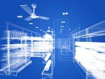 Дизайн эскиза супермаркета стоковое фото rf