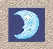 Дизайн юмориста оживленной ткани езды луны верхней шуточный Стоковое Изображение