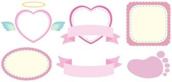 Дизайн ярлыка в розовом цвете иллюстрация вектора