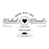 Дизайн ярлыка хлебопекарни Стоковое Изображение
