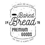 Дизайн ярлыка хлебопекарни Стоковые Фото