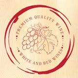 Дизайн ярлыка для вина иллюстрация вектора