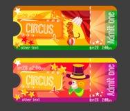 Дизайн для билетов приглашений к цирку Стоковая Фотография