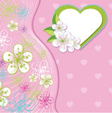 Дизайн для wedding шаблона. Цветки весны, линия, h бесплатная иллюстрация