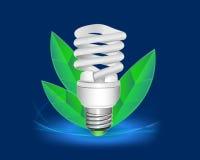Дизайн CFL с листьями вокруг его Иллюстрация штока