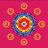 Дизайн Chakras мандалы арабское искусство иллюстрация вектора
