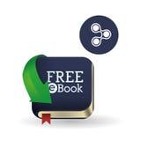 Дизайн EBook Значок чтения Белая предпосылка, иллюстрация вектора Стоковое Фото