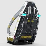 Дизайн Futur космического стула для специальных целей Стоковая Фотография