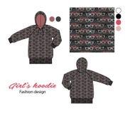 Дизайн hoodie детей Стоковые Изображения