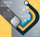 Дизайн Infographic или диаграмма потока операций, номер, диаграмма Стоковое Фото