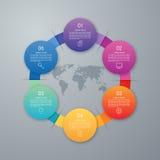 Дизайн Infographic с покрашенный Стоковое Изображение RF