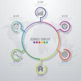 Дизайн Infographic с покрашенный Стоковые Фотографии RF