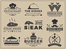 Дизайн insignia логотипа для ресторана, стейкхауса бесплатная иллюстрация