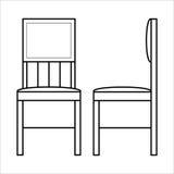 Дизайн lineart мебели стула домашний, внутренняя концепция Стоковые Изображения RF