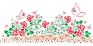 Дизайн mehndi Пейсли флористический Стоковое Изображение RF
