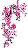 Дизайн mehndi Пейсли флористический Стоковые Изображения RF