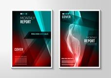 Дизайн Mininal крышки брошюры A4 с геометрическими формами, красочными градиентами иллюстрация вектора