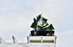 Дизайн Multi birdhouses сложный стоковая фотография