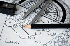 Дизайн Scetch ландшафта Стоковые Изображения