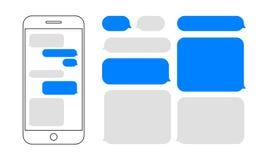 Дизайн smartphone вектора болтовни пузырей сообщения бесплатная иллюстрация