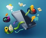 Дизайн Smartphone иллюстрация штока