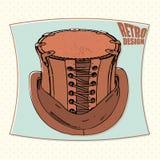 Дизайн Tophat ретро Стоковые Изображения